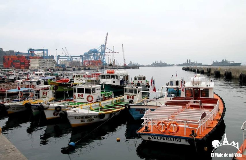 El puerto de Valparaíso, Chile