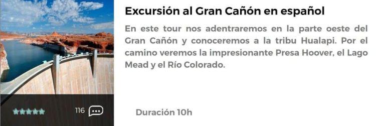 Excursión al Gran Cañón