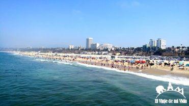 Santa Mónica y Malibú al fondo
