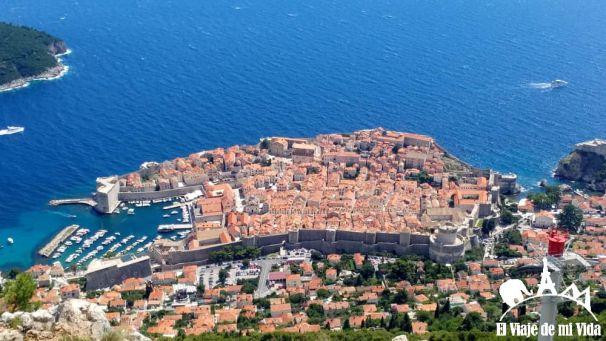 Dubrovnik desde el monte Srd
