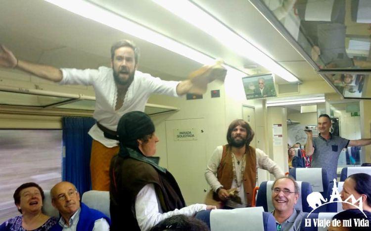 Teatralización en el Tren de Monterrei