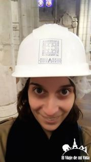 Casco para visitar la Catedral de Vitoria