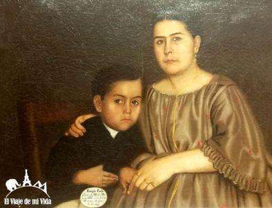 PIntura de Hermenegildo Bustos en la Alhóndiga de Granaditas