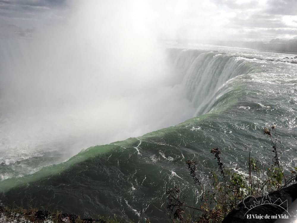 Caída del agua de las Cataratas del Niágara