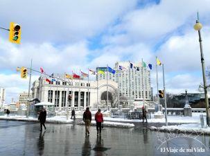 El Ayuntamiento y actual edificio del Senado