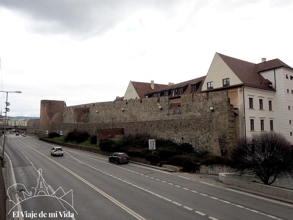 Restos de la muralla de Bratislava