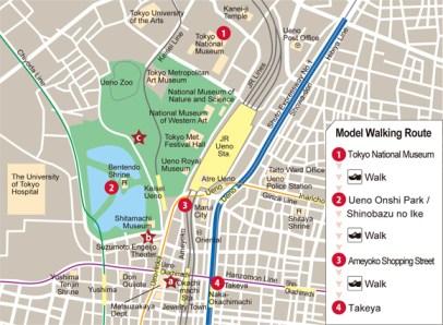 1 Mapa Ueno Tokyo