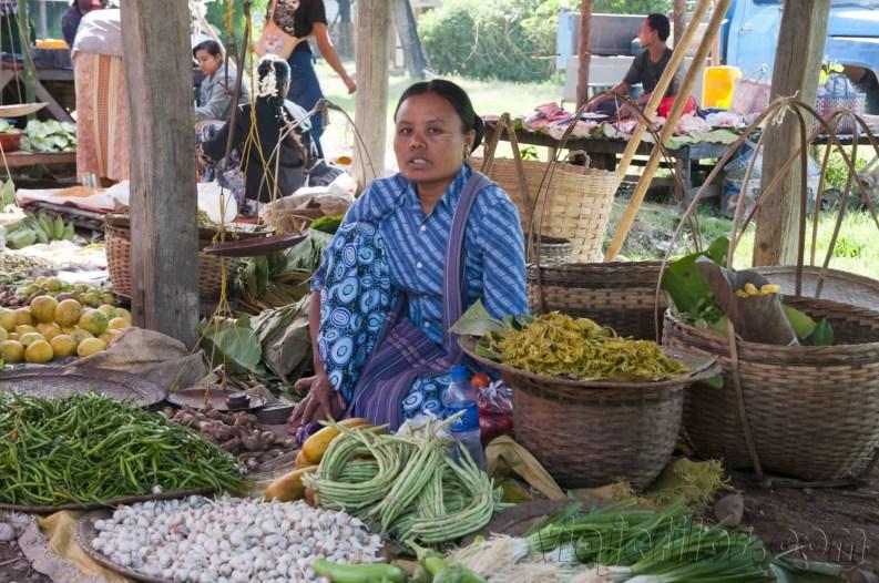 Lago Inle, Mercado de Maing Thauk 07