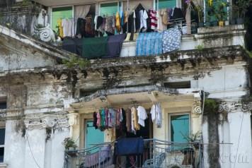 Yangón, balcones