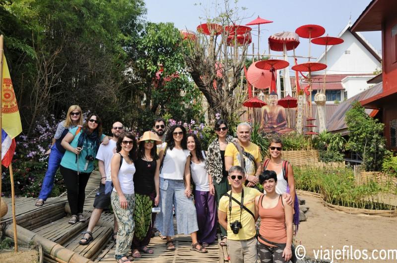 Un buen grupo de viaje para dos semanas en Tailandia