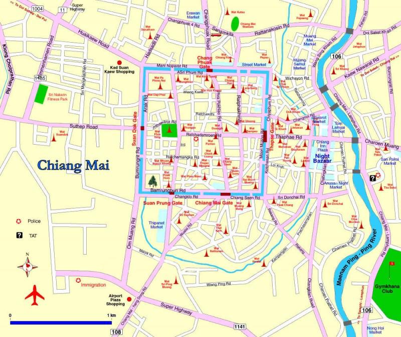 Mapa Chiang Mai