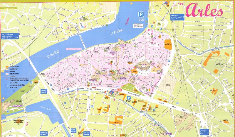 Mapa de Arles
