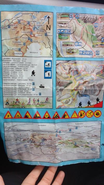 mapa rutas landmannalaugar 2