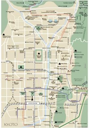 Mapa Kyoto