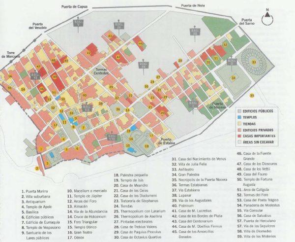Mapa Pompeya