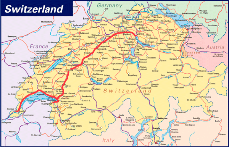 Mapa-Suiza