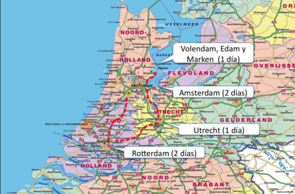 Recorrido Holanda