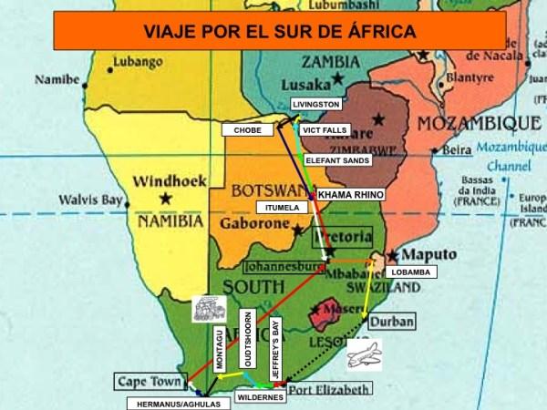 Recorrido por el Sur de Africa en coche de alquiler