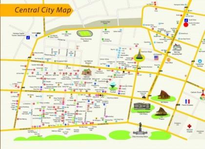 Mapa centro Vientiane