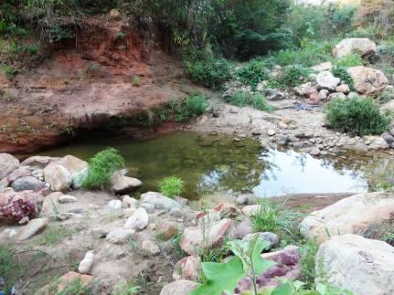 Rio Batateiras em época de pouca água