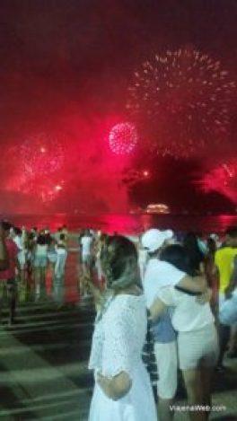 Queima de fogos em Copacabana - Rio de Janeiro