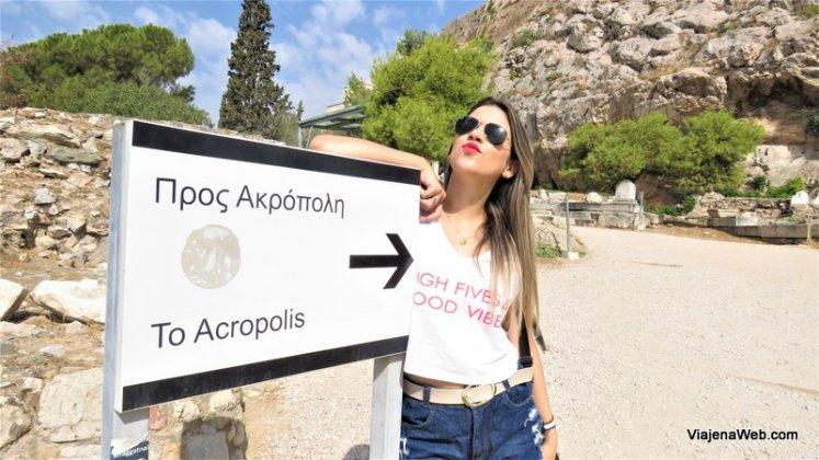 Entrada da Acropole em Atenas