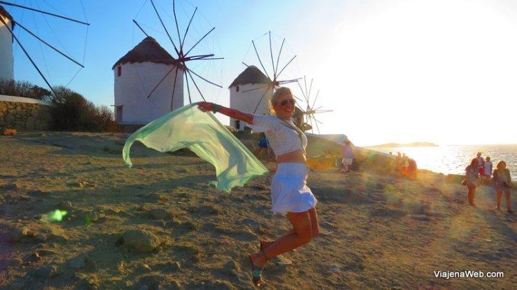 Os Moinhos de vento em Mykonos