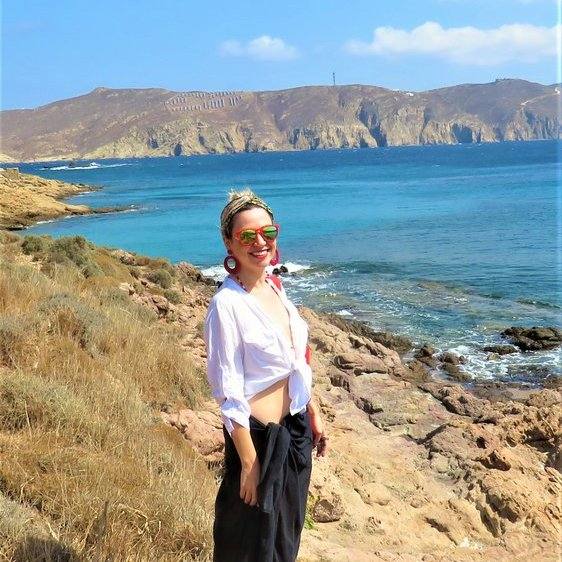 look de praia na Grécia