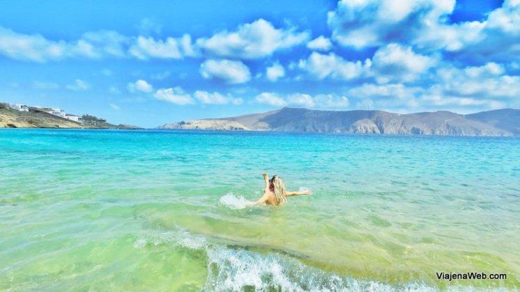 Praias em Mykonos Agios Sostis