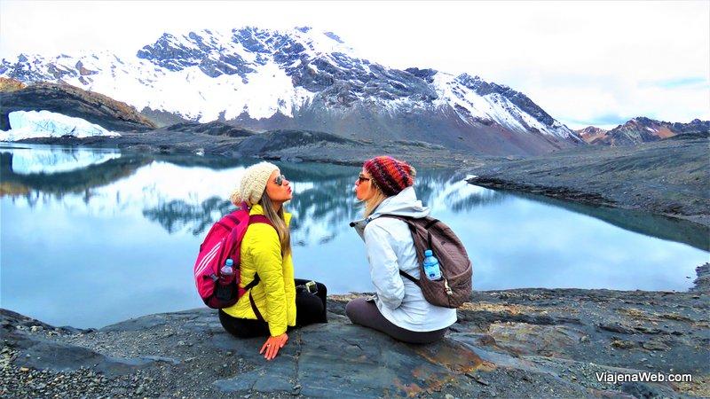 foto nas Gelerias do Glacier Pastoruri
