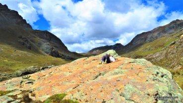 Lugar para descansar no passeio Glacier Pastoruri