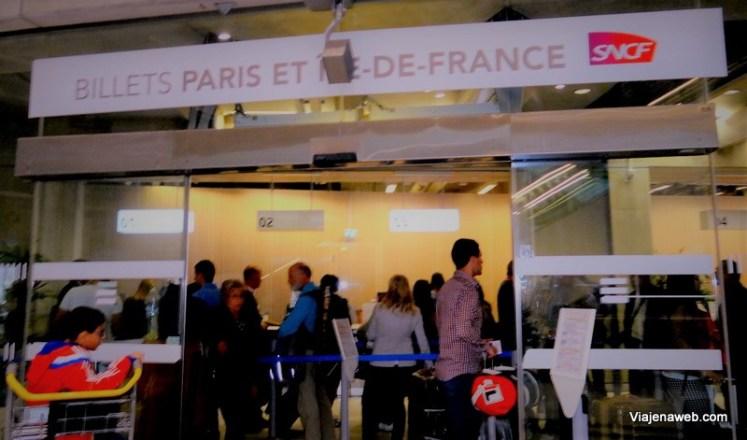 Como ir do aeropoto até Montmatre em Paris - Bilheteria