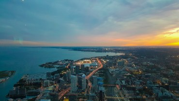 Por do Sol na CN Tower
