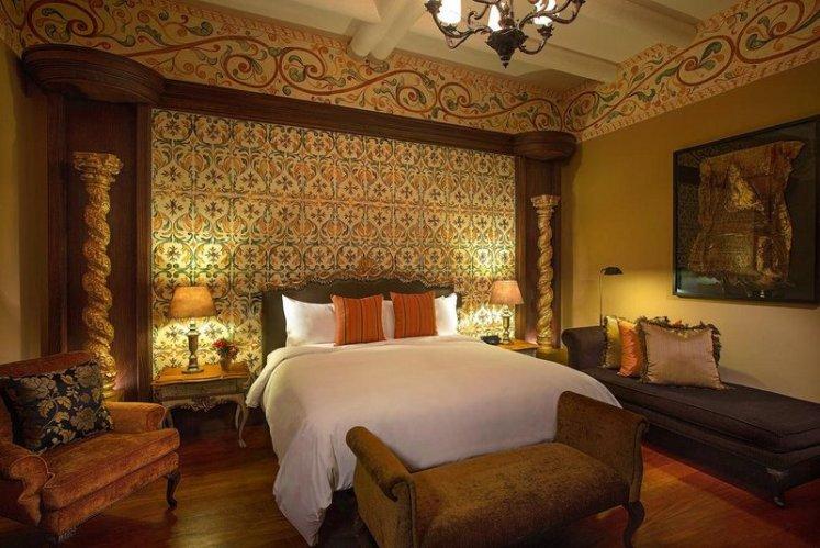 Um dos quartos do luxuoso Palacio del Inka
