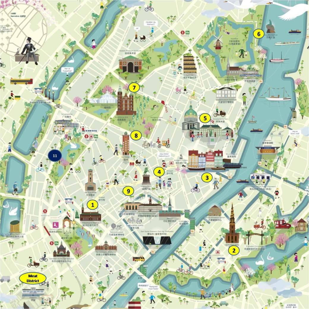 Mapa-de-turismo-de-Copenhague