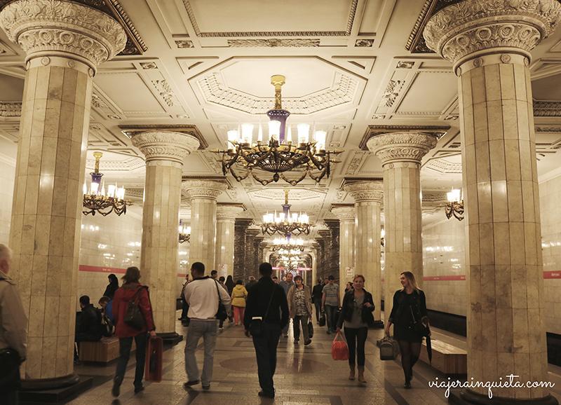 Estación metro Rusia San Petersburgo