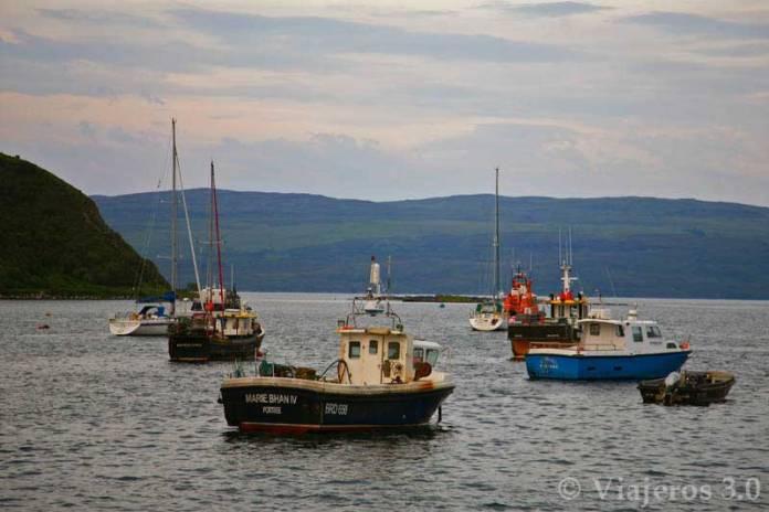 Portree isla de Skye en Escocia