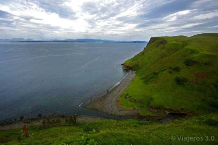 paisajes en la isla de Skye en Escocia