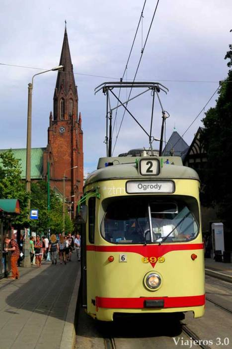 Tranvía en Poznan Polonia