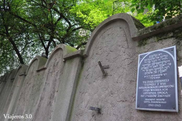 muro del gueto de Cracovia