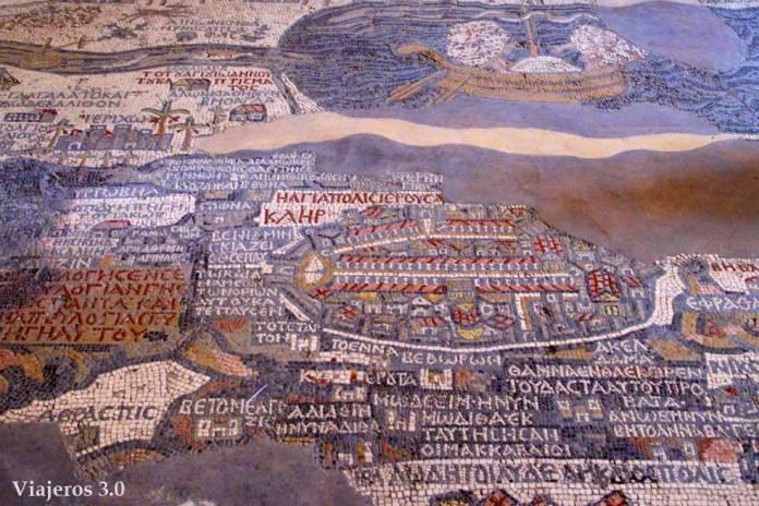 mosaico de la iglesia de San Jorge en Madaba