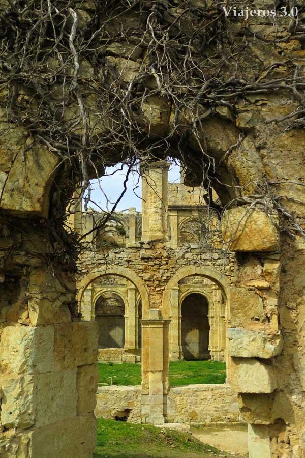 abandono y ruinas en el monasterio de Rioseco