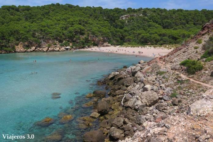 Segunda playa de Algairens en Menorca