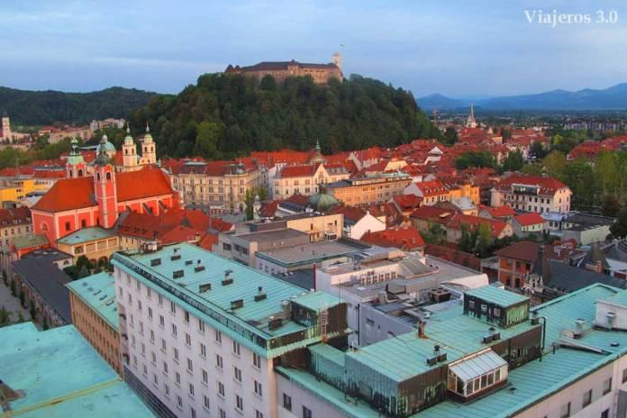 vista panorámica de Liubliana
