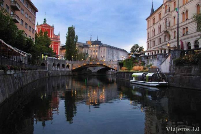 Qué ver en Eslovenia: río Ljubljanica en Liubliana