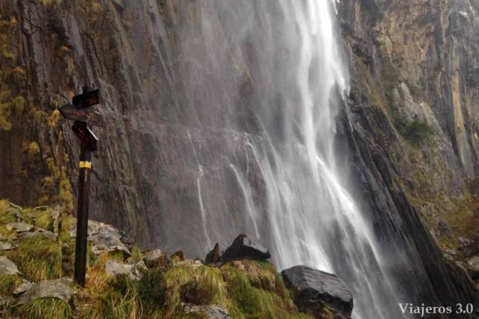 nacimiento del río Asón en la provincia de Cantabria