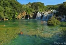 baño en el Parque Nacional de Krka