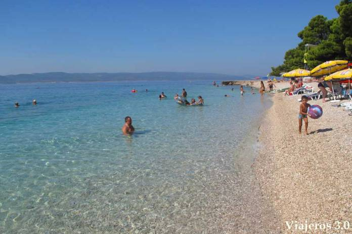 playa Punta Rata en Brela, que hacer y que ver en Croacia