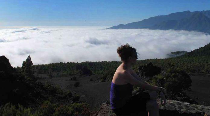 mar de nubes en La Palma