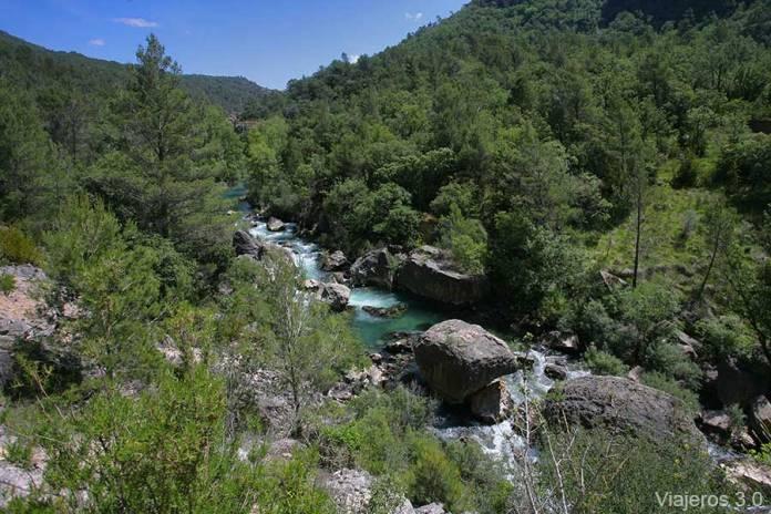 el río Tajo en el Hundido de Armallones